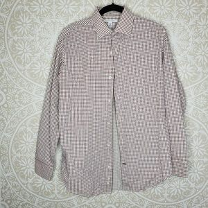Banana Reoublic Red Grid  Long Sleeve Shirt M